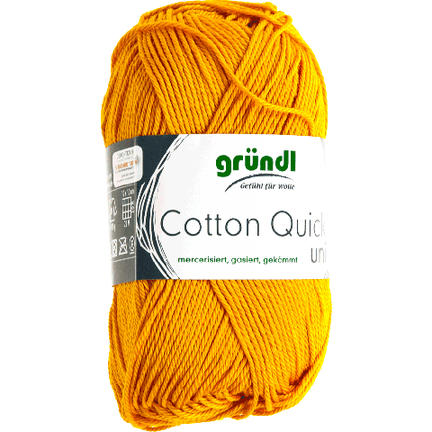 COTTON QUICK UNI 124 MOSTERD GEEL 50GR