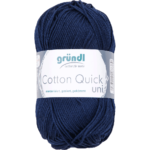 Cotton Quick Uni 145 DONKER BLAUW 50GR
