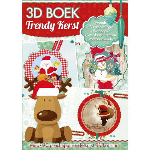 A4 3D boek trendy kerst