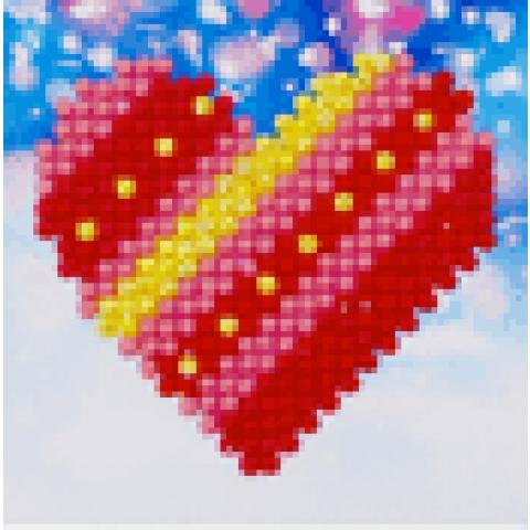 Diamond Dotz Patchwork heart