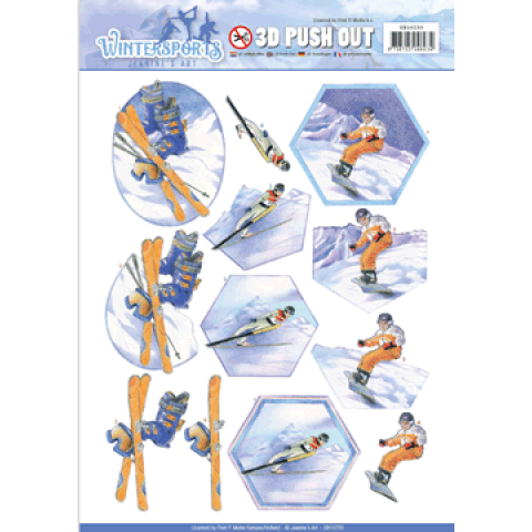 3D push out snowfun wintersports