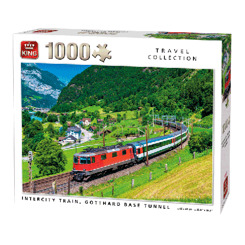 Puzzel Intercity train, Gotthard Baste (1000 stukjes)