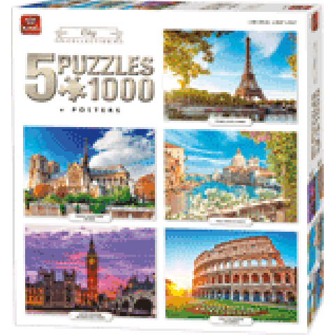 Legpuzzel 5in1 City Collection 1000 stukjes