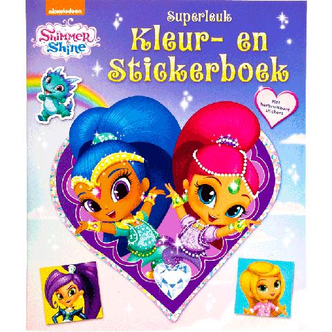 Shimmer & Shine Superleuk Kleur- en stickerboek