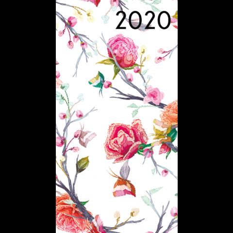 Agenda 2020: Getekende bloemen (Rozen, vlinders)