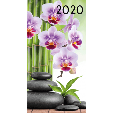 Agenda 2020: Zen (Paarse orchidee, hotstones)