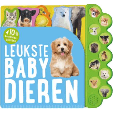Leukste babydieren, geluidboek met 10 geluiden