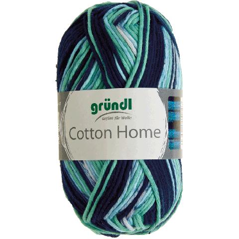 Cotton home 06 donker blauw groen licht blauw 50gr
