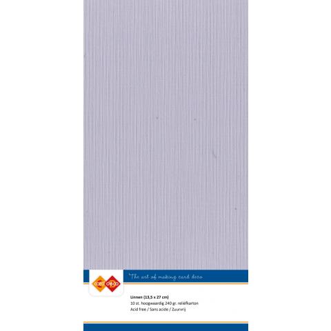 Linnenkarton 13,5x27 - 50 muisgrijs