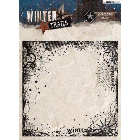 WINTER TRAILS STEMPEL 14X14CM NR 305 ACHTERGROND STERREN