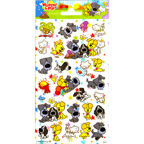 Sticker sheet paper Woezel & Pip