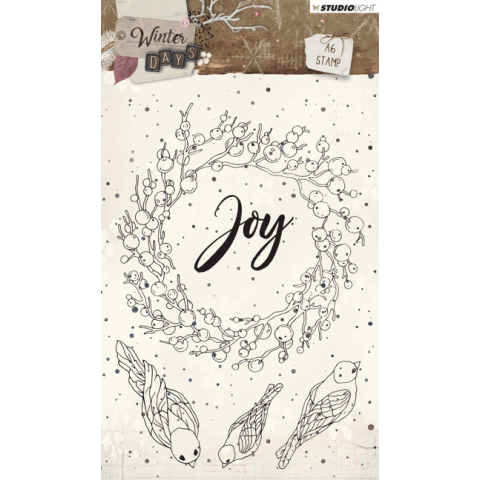 Winter days stempel A6 nr 312 krans Joy oktober 2018