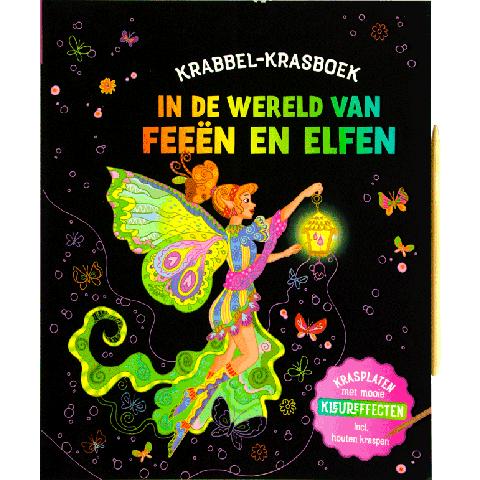 Krabbel-krasboek In de wereld van Feeën en Elfen