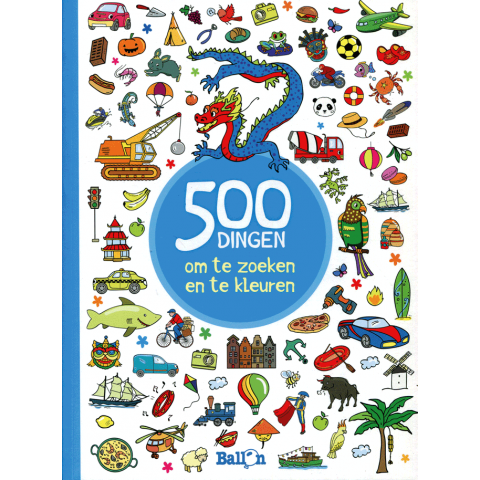 500 dingen om te zoeken en te kleuren voor jongens
