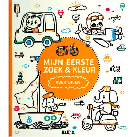 Mijn eerste zoek & kleurboek voertuigen
