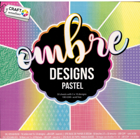 Papierblokje 15x15cm 5x10vel 100gr brights en pastels