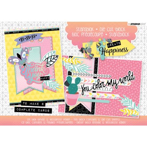 Stansblok A5 create happiness 6 kaarten nr20