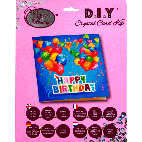 Crystal Card Kit A1 Happy Birthday 18x18cm