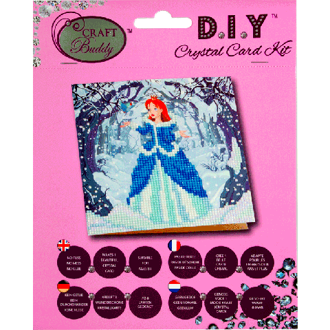 Crystal card kit A5 Enchanted princess 18x18