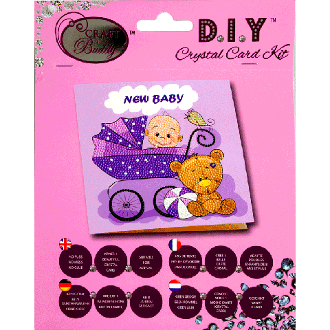 Crystal card kit A22 New Baby 18x18