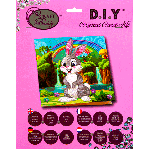 Crystal Card kit A24 Rabbit Wonderland 18x18cm