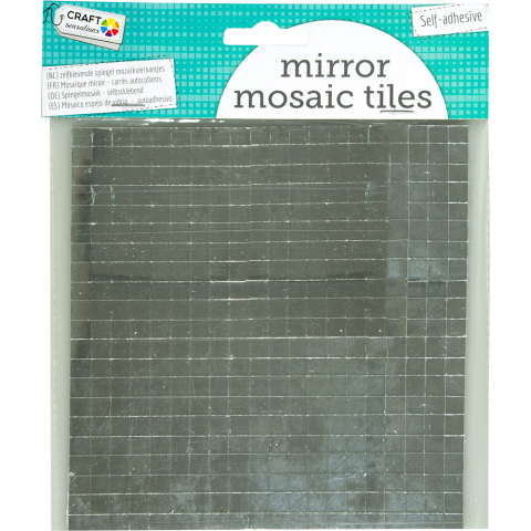 Zelfklevende spiegel mozaikvierkantjes