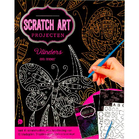 Scratch art projecten: Vlinders