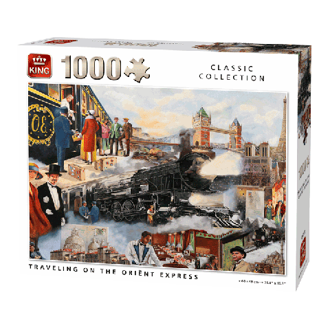Puzzle Traveling on the Orient Express 1000 pcs