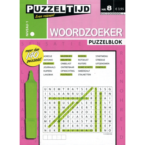 Puzzelblok woordzoeker 1 punt nr. 8