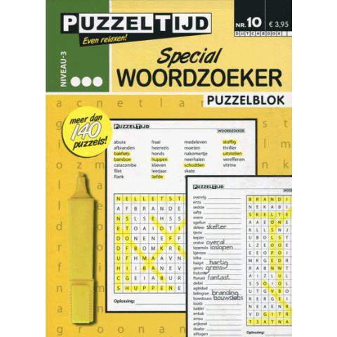Puzzeltijd puzzelblok woordzoeker special 3 punten nr. 10