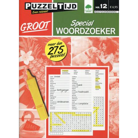 Puzzelboek groot special woordzoeker nr. 12