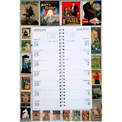 Omleg weekkalender 2020 Oude Posters