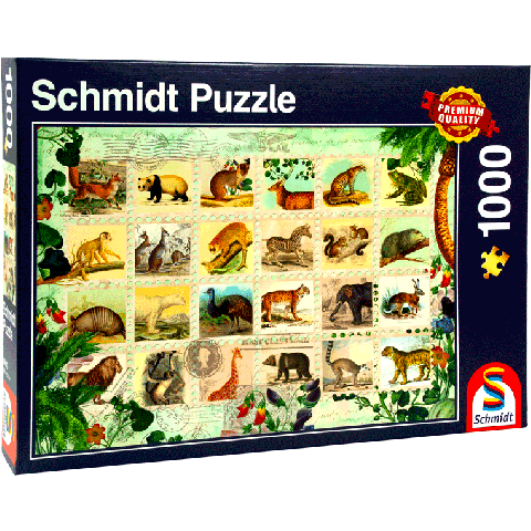 Schmidt 1000 puzzel Animal stamps
