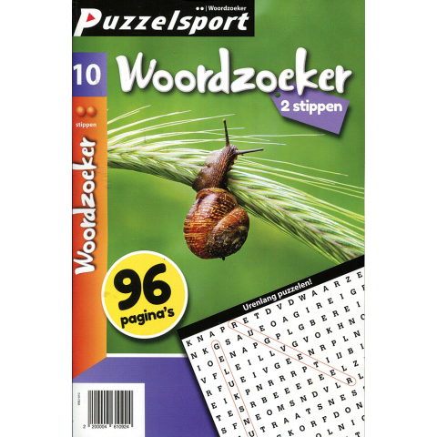 Puzzelsport 96 p. woordzoeker 2 stippen nr. 10