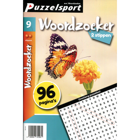 Puzzelsport 96 p. woordzoeker 2 stippen nr. 9
