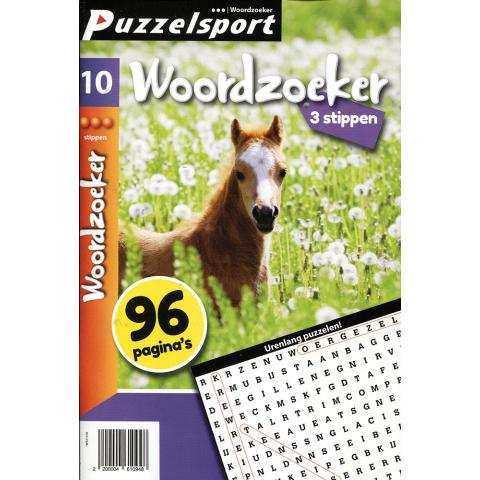 Puzzelsport 96 p. woordzoeker 3 stippen nr. 10