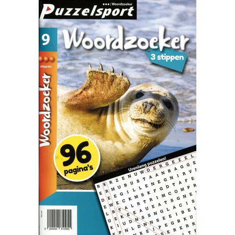 Puzzelsport 96 p. woordzoeker 3 stippen nr. 9