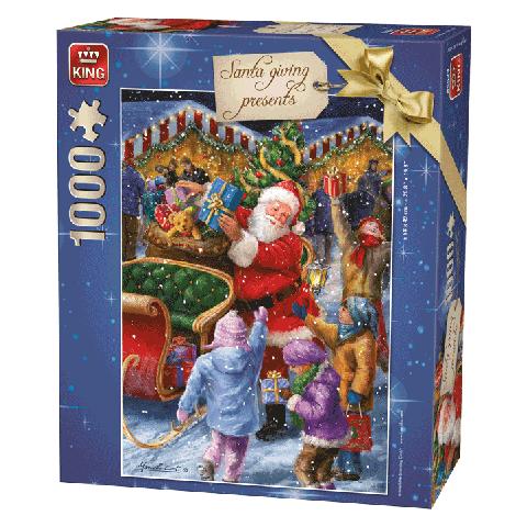Legpuzzel Santa giving presents 1000 stukjes