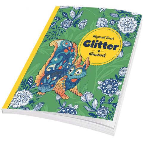 Glitter Kleurboek Mystical Forest