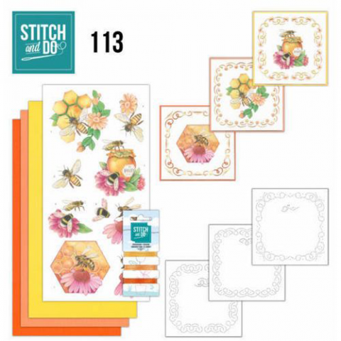 Stitch & Do nr. 113 Honing bijen
