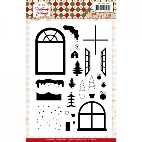 Clear stamps afbeeldingen warm christmas feelings