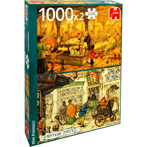 Legpuzzel Anton Pieck De Patissier & de Poffertjeskraam 2 x 1000 stukjes