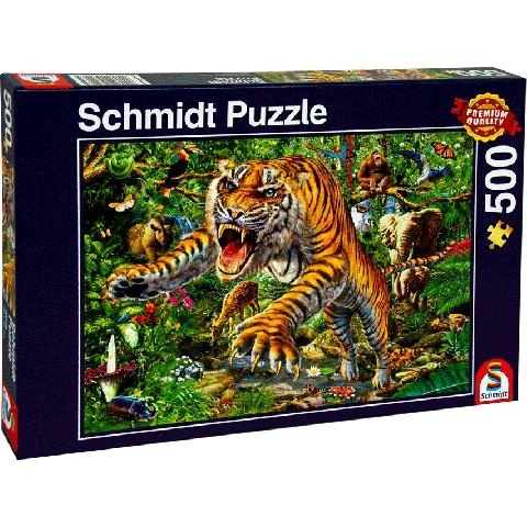 Legpuzzel 500 stukjes tijgeraanval Schmidt