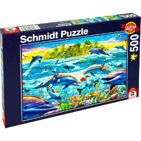 Legpuzzel 500 stukjes Dolfijnenrif (Schmidt)