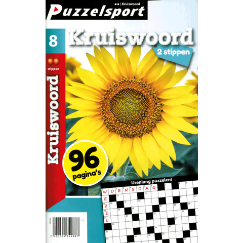 Puzzelsport 96 p. kruiswoord 2 stippen nr. 008