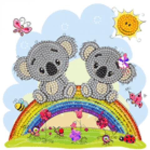 Crystal Card kit A47 koala 18x18cm