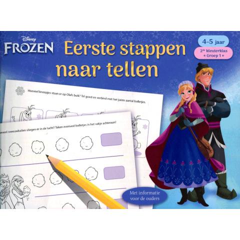 Eerste stappen naar het tellen 4-5 jaar Frozen