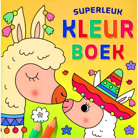 Superleuk kleurboek Lama