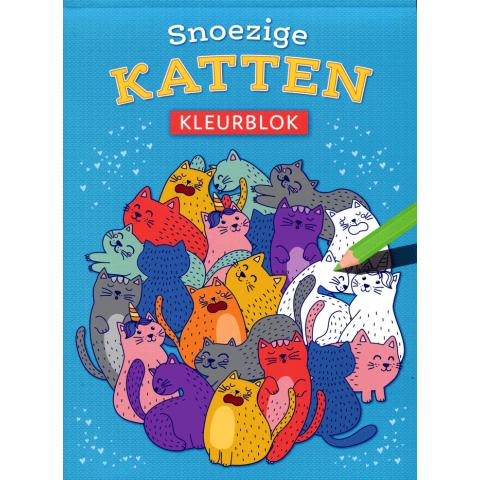 Snoezige katten kleurblok