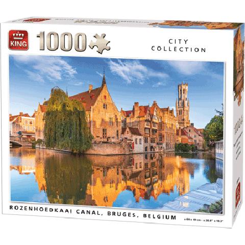 Legpuzzel Rozenhoedkaai Brugge (1000 pcs)